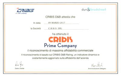 C.B.B.O. S.r.l. tra le aziende più affidabili d'Italia.
