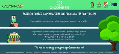 A Calvisano è in arrivo Q-Cumber, la piattaforma che premia l'ECO-FEDELTÀ !