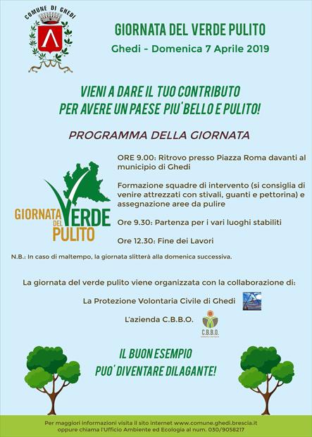 Giornata del Verde Pulito - Domenica 7 Aprile